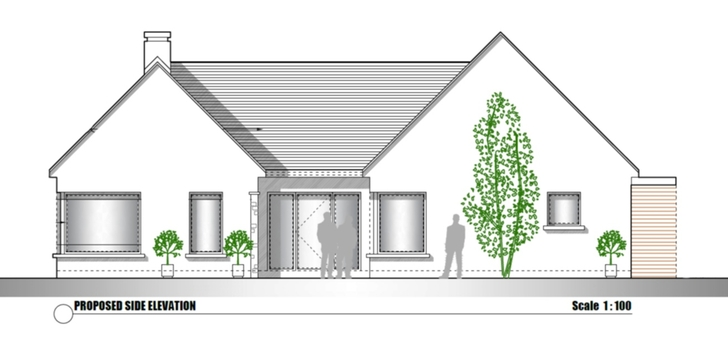 Proposed Side Elevation of Bungalow