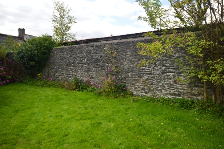 Walls surrounding rear garden